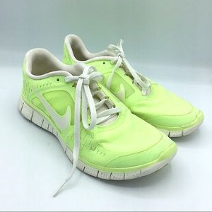 Nike Freerun Neon Running Shoes 8 H20 Repel